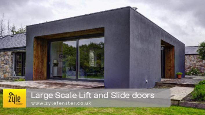Aluminium Clad large sliding doors